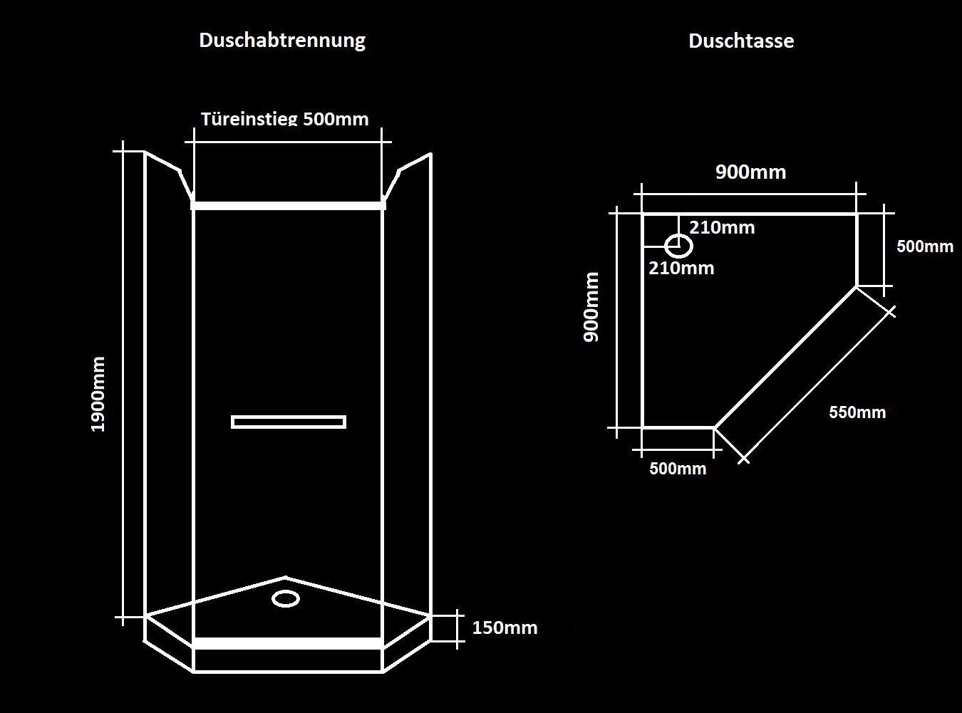 Ablaufgarnitur Dusche Reinigen : Dusche Duschwand 8mm Duschtasse Ablaufgarnitur 8900 eBay