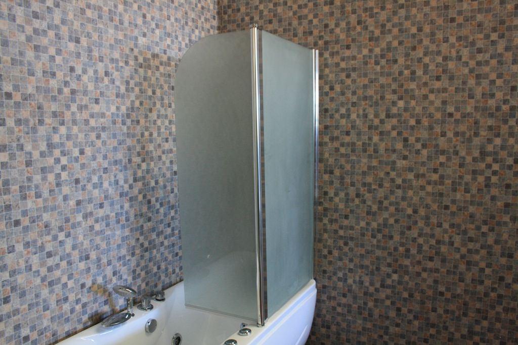 badewannenduschwand duschwand duschabtrennung neu satiniert ebay. Black Bedroom Furniture Sets. Home Design Ideas