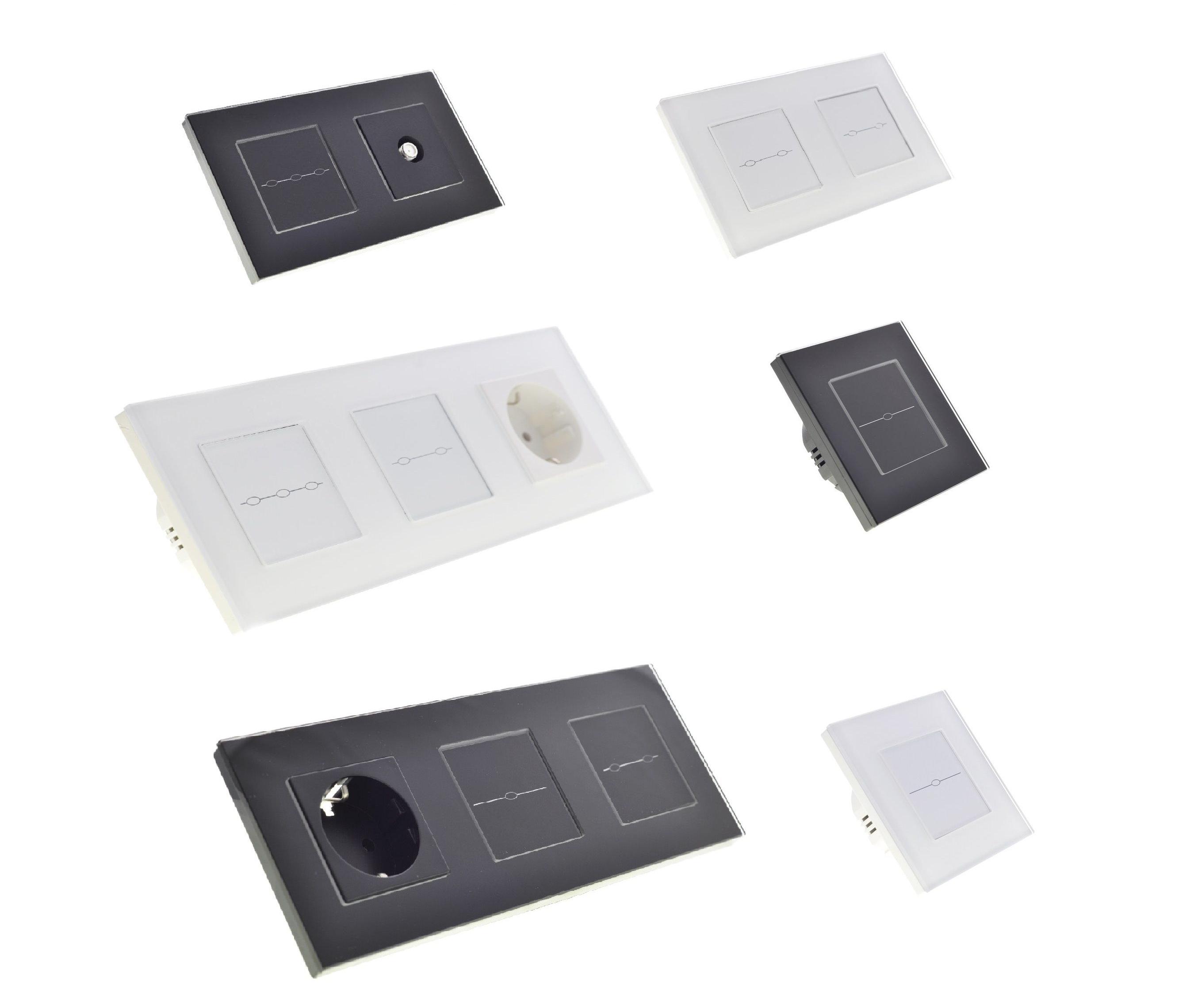 Glas Touchscreen Glas Lichtschalter Steckdose USB SAT ...