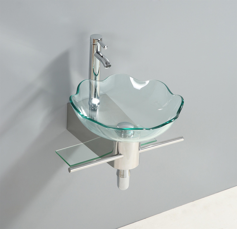 glaswaschtisch waschtisch glasbecken badm bel edelstahl. Black Bedroom Furniture Sets. Home Design Ideas
