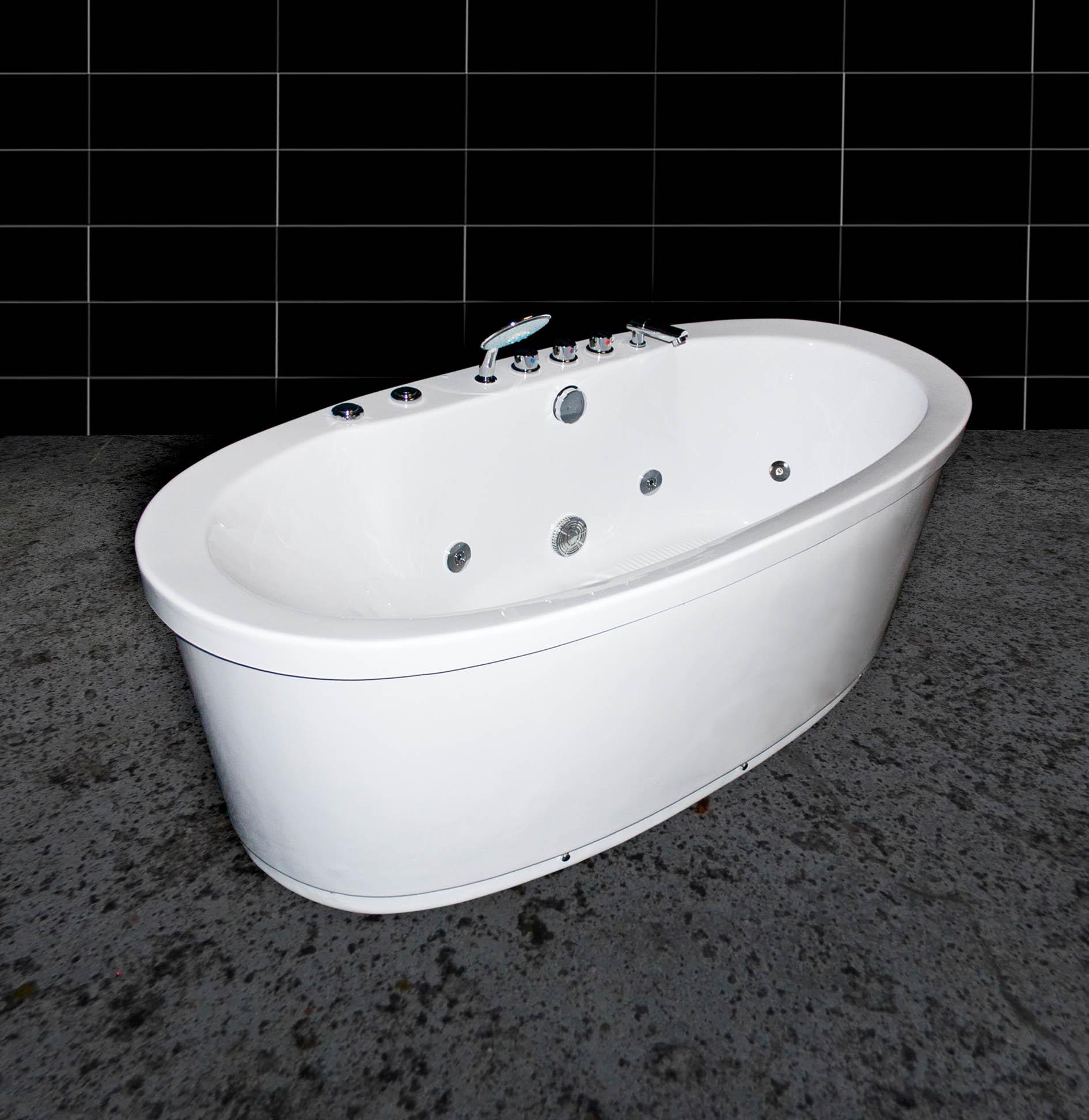 freistehende whirlwanne whirlpool armatur badewanne lxw 85175 ausstellungsst ck ebay. Black Bedroom Furniture Sets. Home Design Ideas