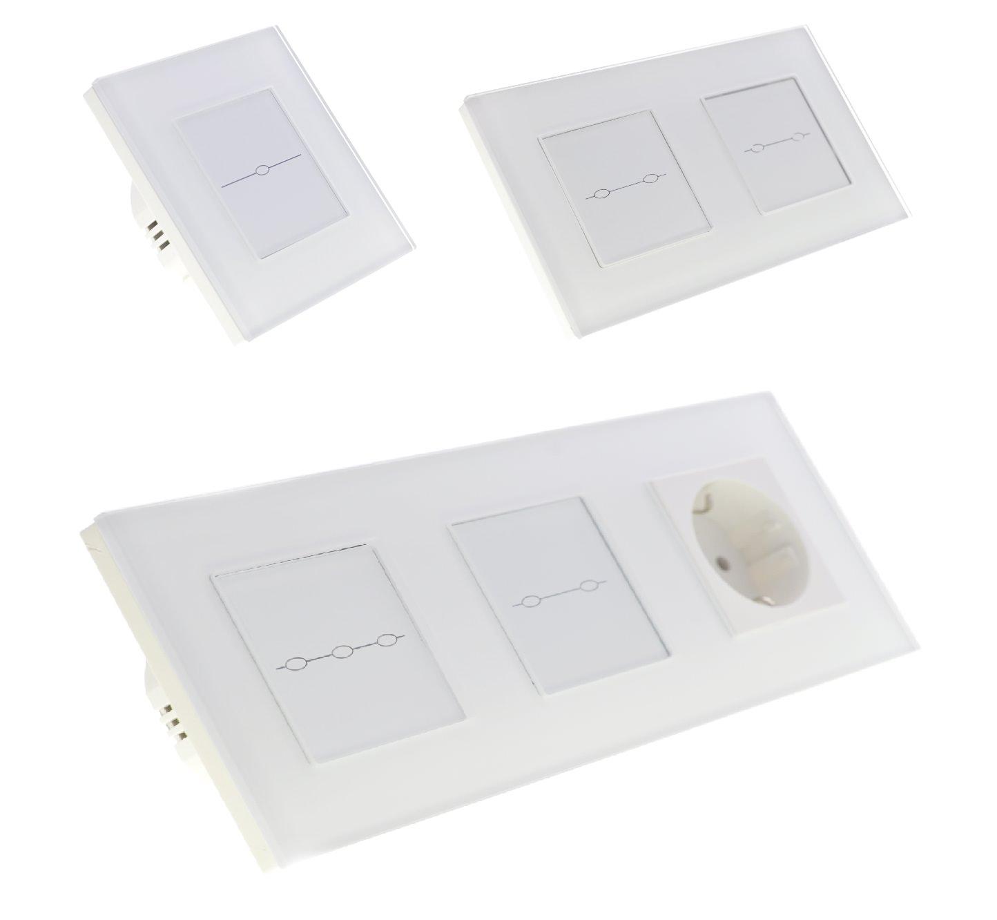 Lichtschalter Glas Touchscreen Steckdose Wechselschalter ...