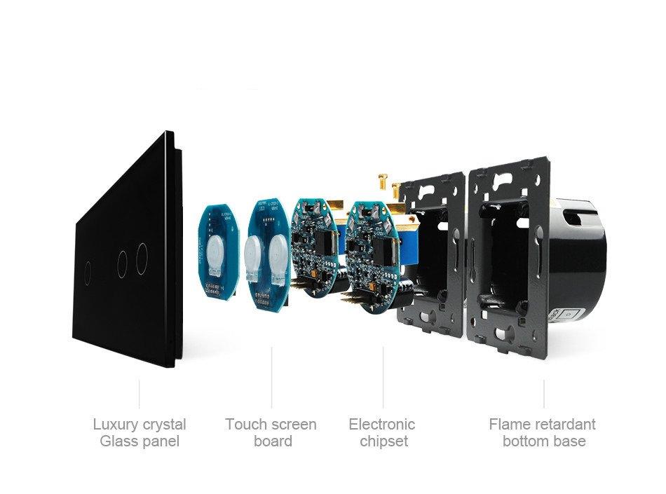 Luxus-Time Sanitary Ware - Touch Lichtschalter Steckdosen