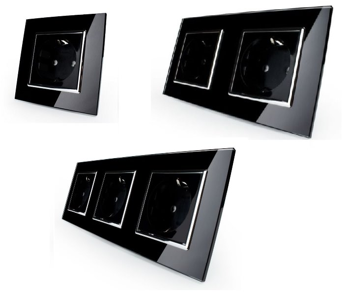 lichtschalter glas touchscreen wechselschalter steckdose. Black Bedroom Furniture Sets. Home Design Ideas