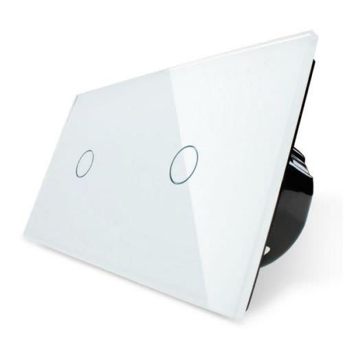 livolo funk schalter funkschalter lichtschalter touch glas lichtschalter wei ebay. Black Bedroom Furniture Sets. Home Design Ideas