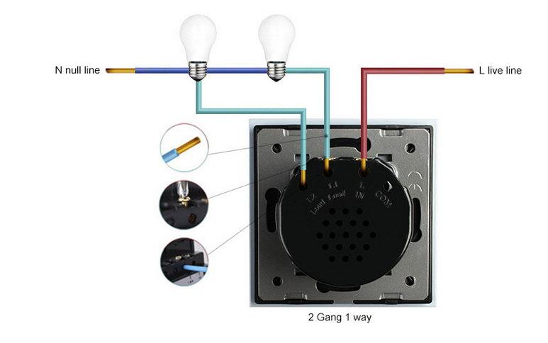 funk lichtschalter glas touch switch wandschalter vl c702r 12 livolo 7426765142824 ebay. Black Bedroom Furniture Sets. Home Design Ideas