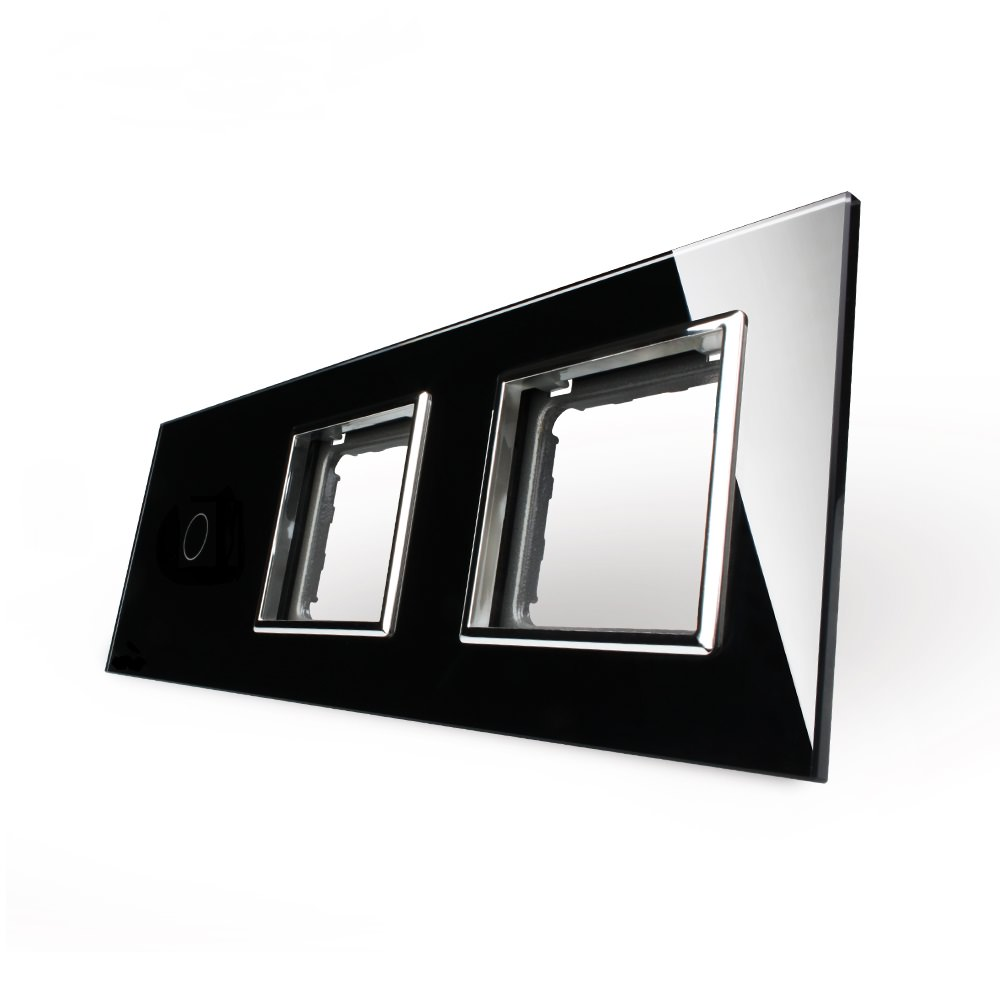 livolo glasrahmen blende touchscreen lichtschalter steckdose vl c7 c1 sr sr 12 ebay. Black Bedroom Furniture Sets. Home Design Ideas