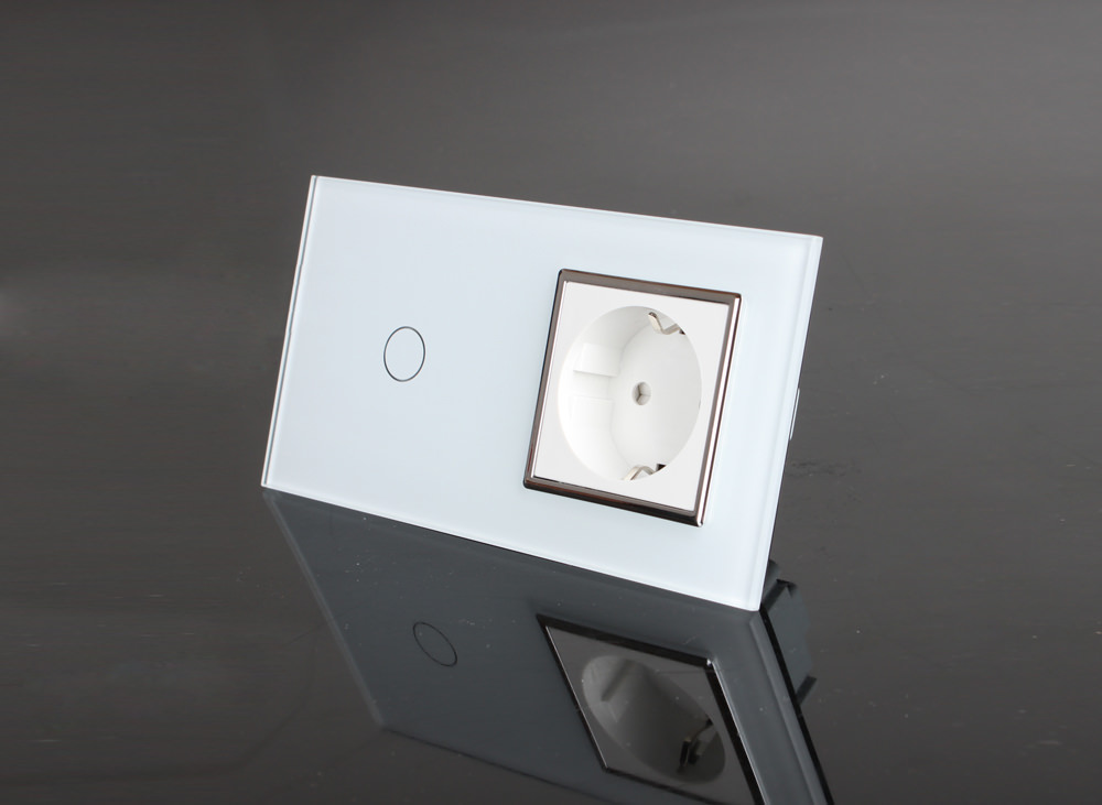 lichtschalter steckdose glas touchscreen vl c701 11 vl. Black Bedroom Furniture Sets. Home Design Ideas