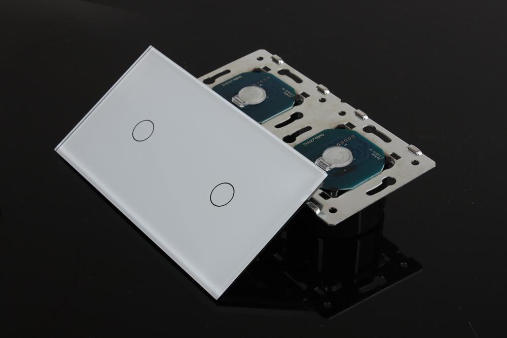 dimmer lichtschalter glas touchscreen doppelschalter vl c701d 11 vl c701d 11 ebay. Black Bedroom Furniture Sets. Home Design Ideas