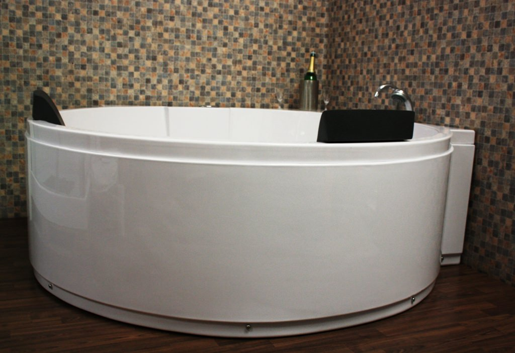 outdoor whirlpool jacuzzi whirlpool badewanne eckwhirlpool neu 1a led d sen ebay. Black Bedroom Furniture Sets. Home Design Ideas