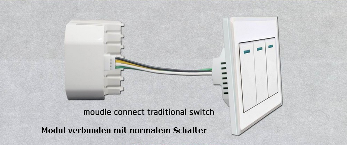 smart home wifi wlan adapter switch schalter funkschalter unterputz l6 modul ebay. Black Bedroom Furniture Sets. Home Design Ideas