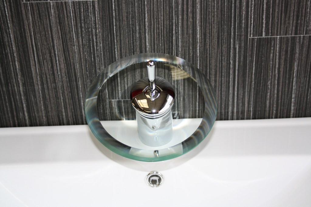 Einhebel wasserfall glas waschtisch armatur waschschale ebay - Wasserfall armatur ...