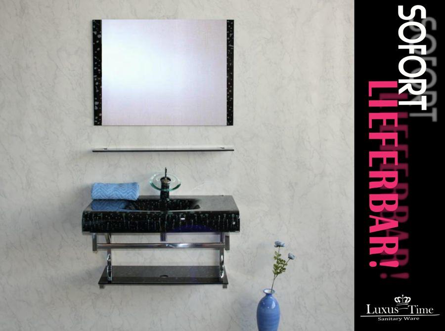 badm bel glaswaschtisch duschabtrennung waschtisch ausstellungsst ck ebay. Black Bedroom Furniture Sets. Home Design Ideas